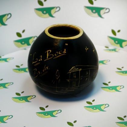 Калабас из тыквы с рисунком без окантовки