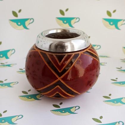 Калабас из тыквы с окантовкой