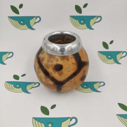 Калабас из тыквы с окантовкой и узором