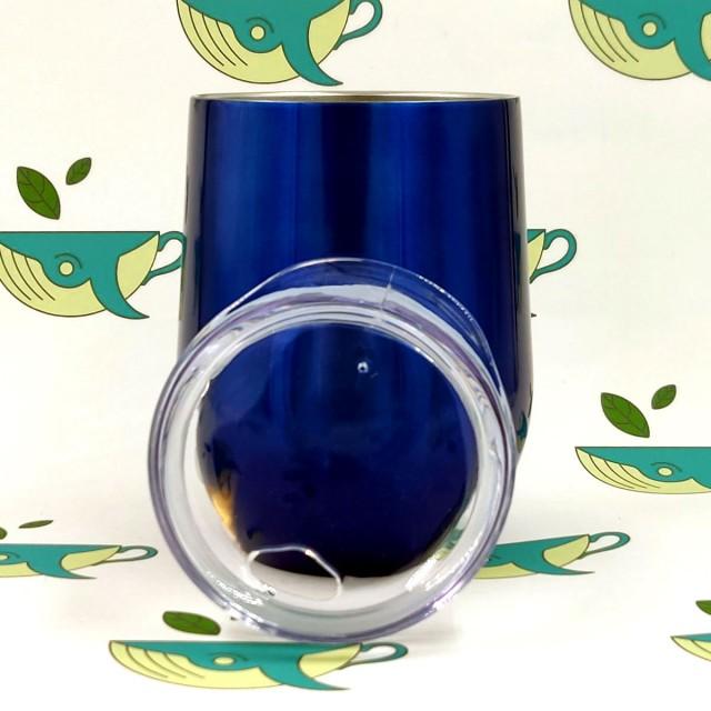 Термокружка / термокалабас тёмно-синий металлик