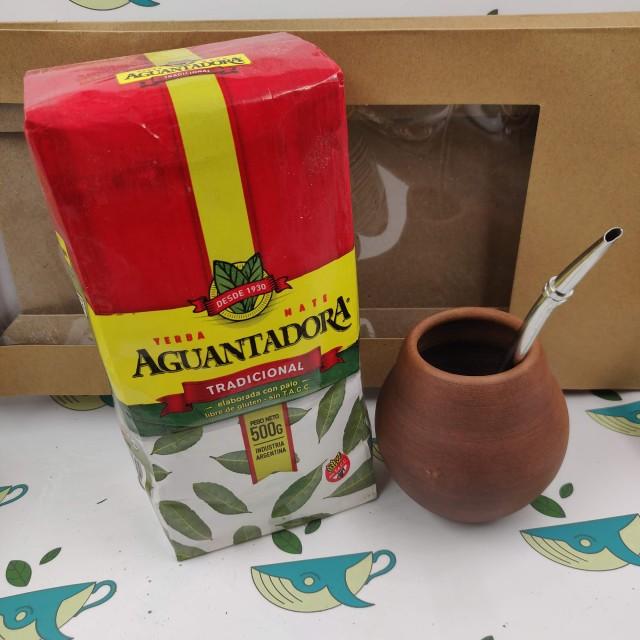 Набор мате Aguantadora (с глиняным калабасом)