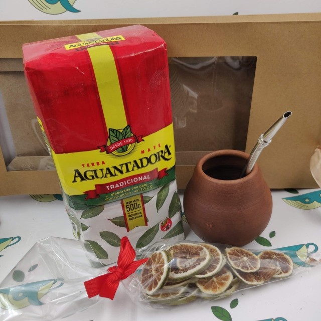 Набор Aguantadora (с глиняным калабасом и лаймом)