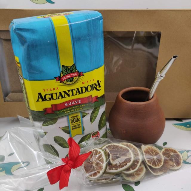 Набор Aguantadora Suave (с глиняным калабасом и лаймом)