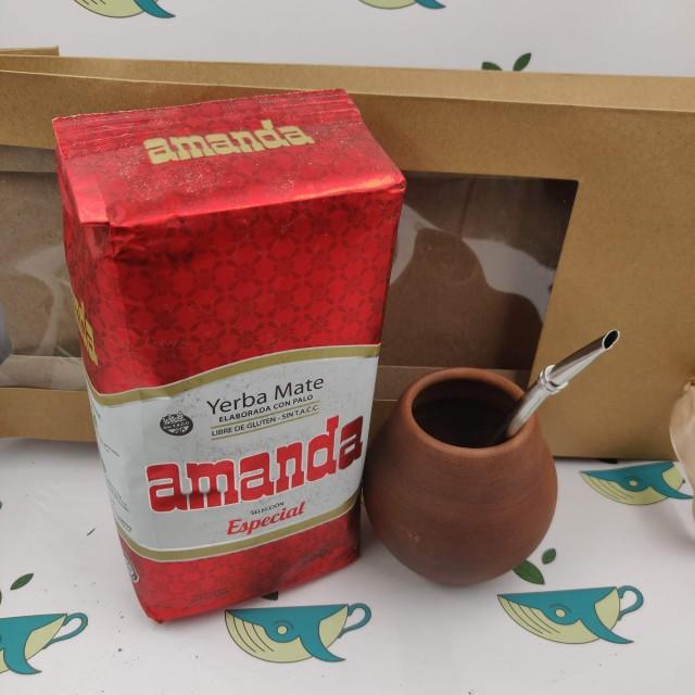 Набор мате Amanda Especial (с глиняным калабасом)