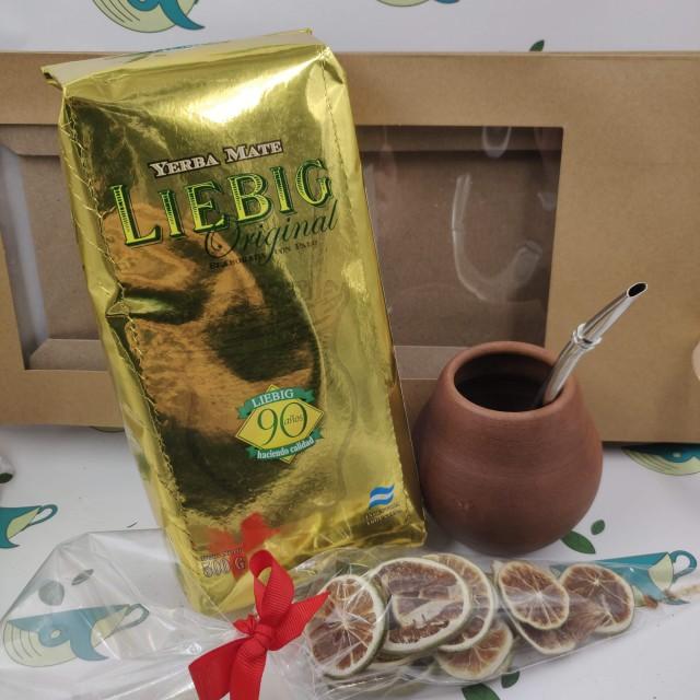 Набор Liebig (с глиняным калабасом и лаймом)