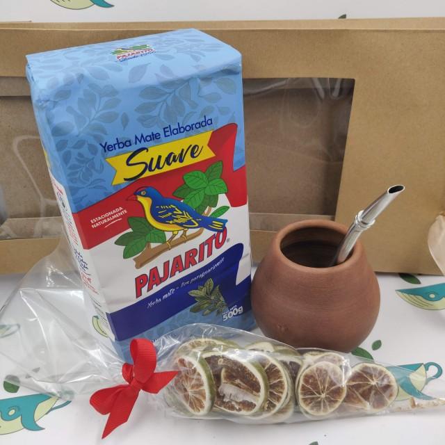 Набор Pajarito Suave (с глиняным калабасом и лаймом)