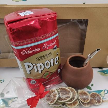 Набор Pipore (с глиняным калабасом и лаймом)