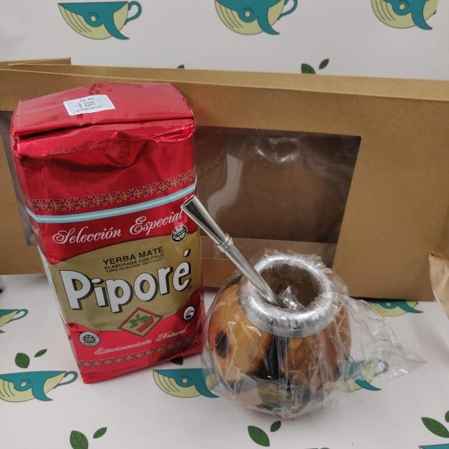 Набор мате Pipore (с тыквенным калабасом)