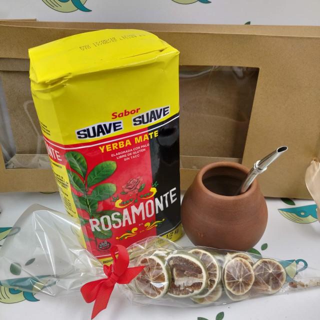 Набор Rosamonte suave (с глиняным калабасом и лаймом)