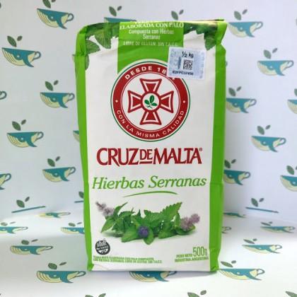 Йерба мате Cruz de Malta Hierbas Serranas 500 грамм